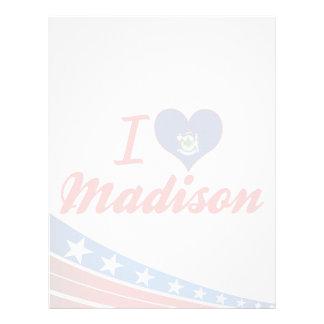 Amo Madison, Maine Membretes Personalizados