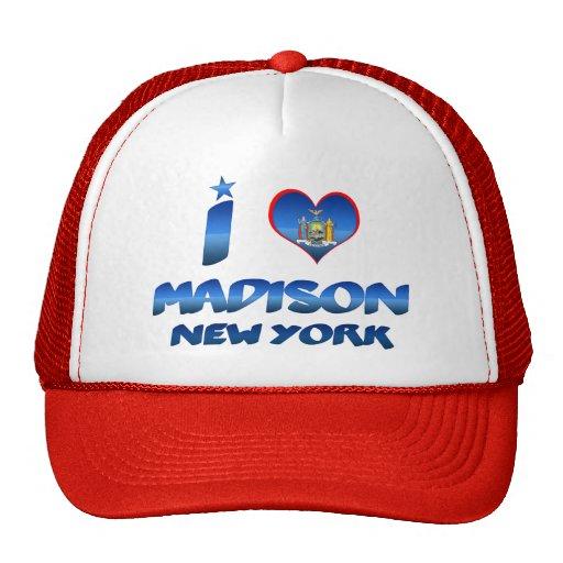 Amo Madison, Nueva York Gorras