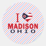 Amo Madison, Ohio Etiqueta Redonda