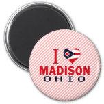 Amo Madison, Ohio Imán De Frigorífico