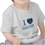 Amo Madison, PA Camisetas