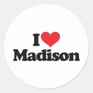 Amo Madison Pegatina Redonda