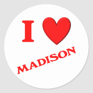 Amo Madison Etiqueta Redonda
