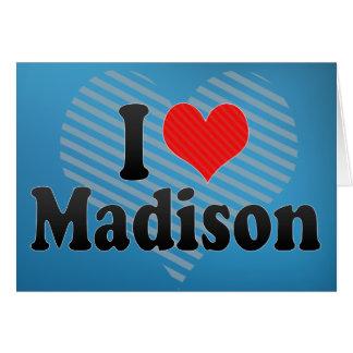 Amo Madison Tarjeta De Felicitación