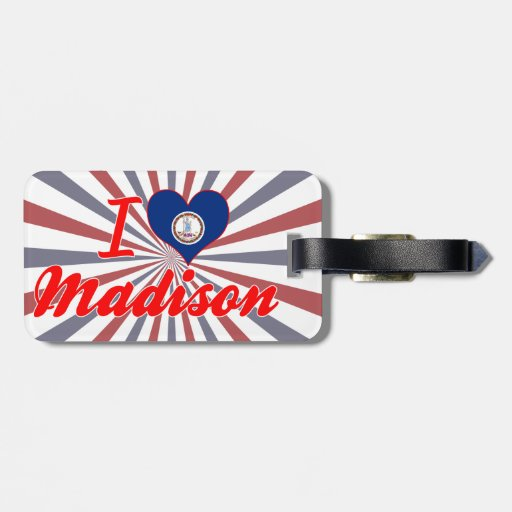 Amo Madison, Virginia Etiqueta Para Maleta