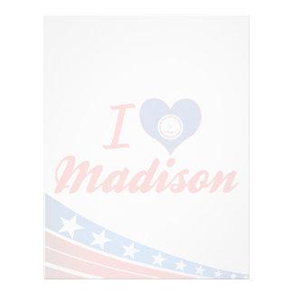 Amo Madison, Virginia Membrete A Diseño