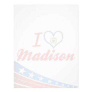 Amo Madison, Virginia Occidental Membrete A Diseño