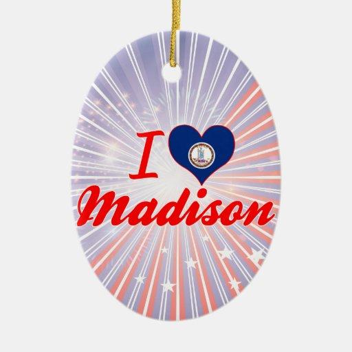 Amo Madison, Virginia Ornamento De Navidad