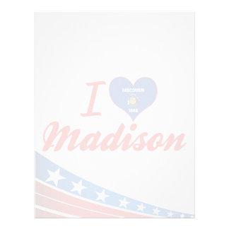 Amo Madison, Wisconsin Plantilla De Membrete