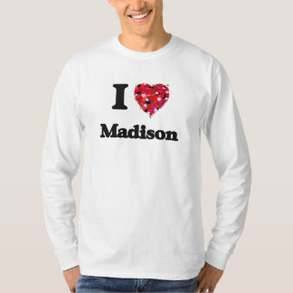 Amo Madison Wisconsin Remeras