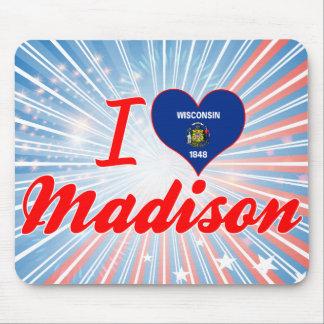 Amo Madison, Wisconsin Alfombrilla De Raton