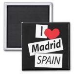 Amo Madrid España Imán De Nevera