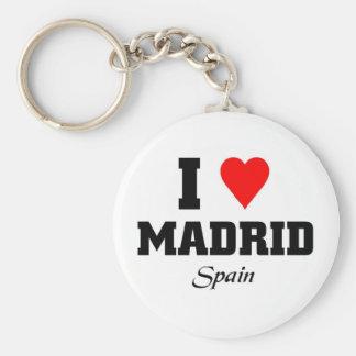 Amo Madrid, España Llavero Redondo Tipo Pin