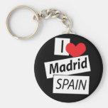 Amo Madrid España Llaveros Personalizados