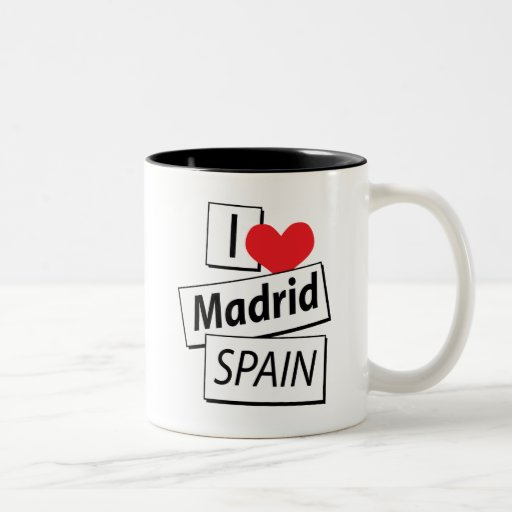 Amo Madrid España Taza De Café
