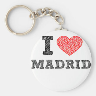 Amo Madrid Llavero Redondo Tipo Pin