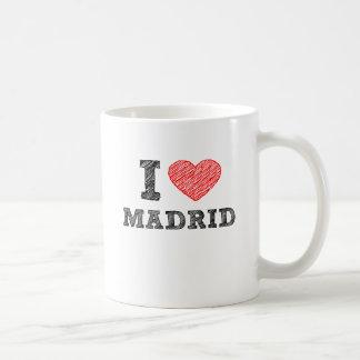 Amo Madrid Taza Básica Blanca