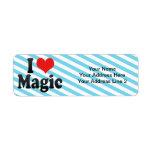 Amo magia etiquetas de remite