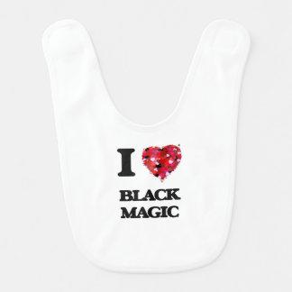 Amo magia negra baberos para bebé