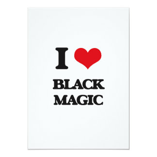 Amo magia negra invitación 12,7 x 17,8 cm