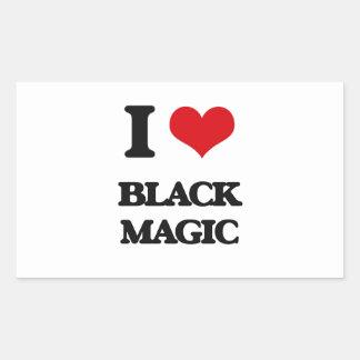 Amo magia negra pegatina rectangular