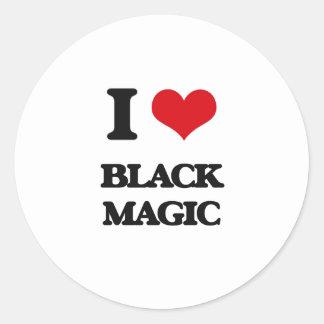 Amo magia negra pegatina redonda