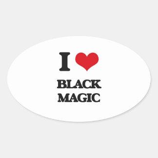 Amo magia negra pegatina ovalada