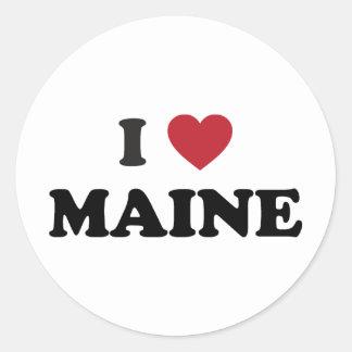 Amo Maine Pegatina Redonda