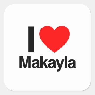 amo makayla pegatinas cuadradases