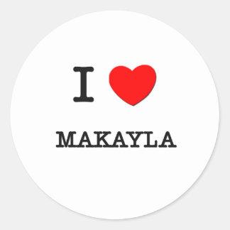 Amo Makayla Pegatinas