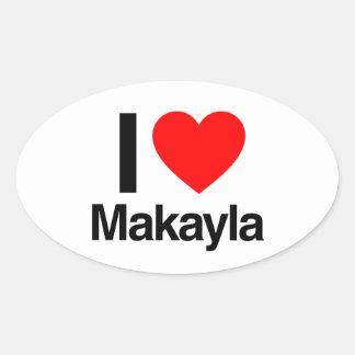 amo makayla colcomanias de óval