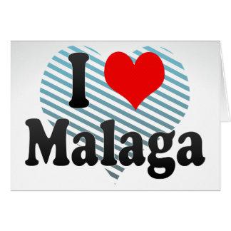 Amo Málaga, España. Yo Encanta Málaga, España Tarjeta Pequeña