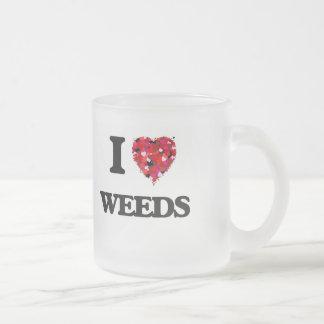 Amo malas hierbas taza cristal mate