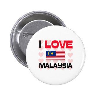 Amo Malasia Pin Redondo De 2 Pulgadas