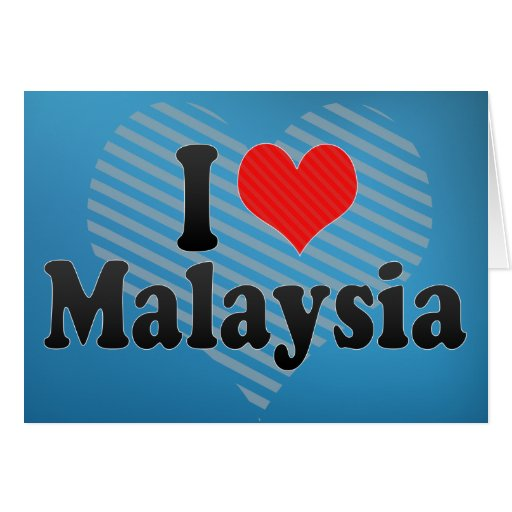 Amo Malasia Tarjeta