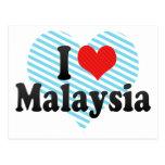 Amo Malasia Tarjetas Postales