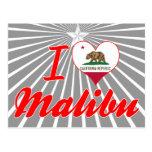 Amo Malibu, California Tarjetas Postales