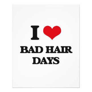 Amo malos días del pelo folleto 11,4 x 14,2 cm