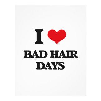 Amo malos días del pelo folleto 21,6 x 28 cm
