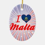 Amo Malta, Idaho Ornaments Para Arbol De Navidad