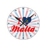 Amo Malta, Idaho Reloj De Pared