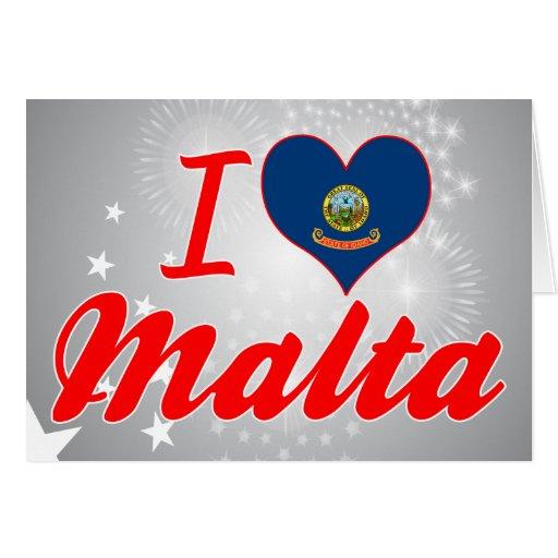 Amo Malta, Idaho Tarjeta De Felicitación