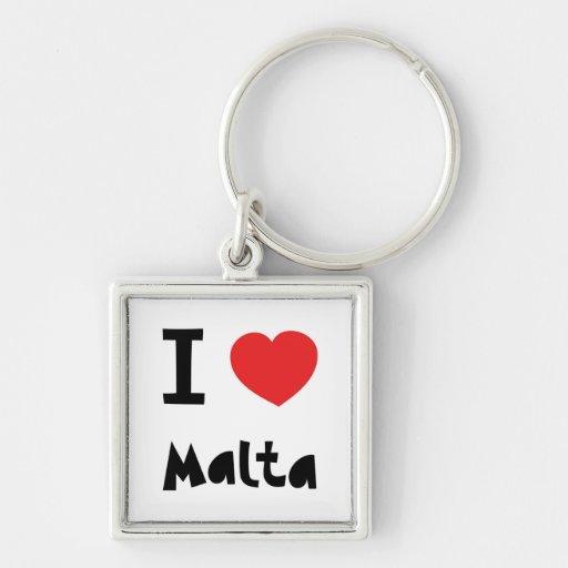 Amo Malta Llavero Personalizado