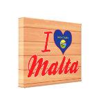 Amo Malta, Montana Impresión En Lienzo Estirada
