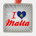 Amo Malta, Montana Ornamento Para Arbol De Navidad