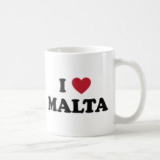 Amo Malta Taza Básica Blanca