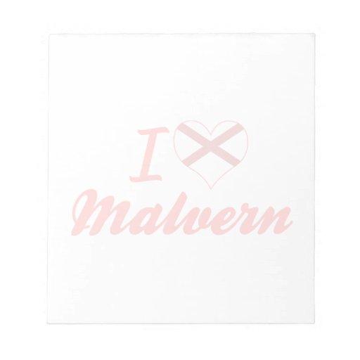 Amo Malvern, Alabama Bloc De Notas