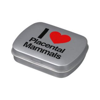 amo mamíferos placentarios frascos de caramelos