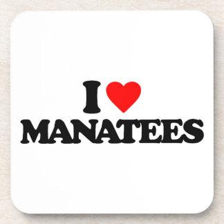 AMO MANATEES POSAVASOS DE BEBIDAS