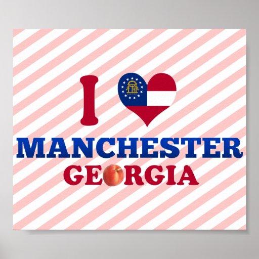 Amo Manchester, Georgia Posters